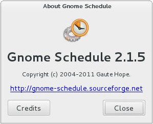 Gnome Scheduler About