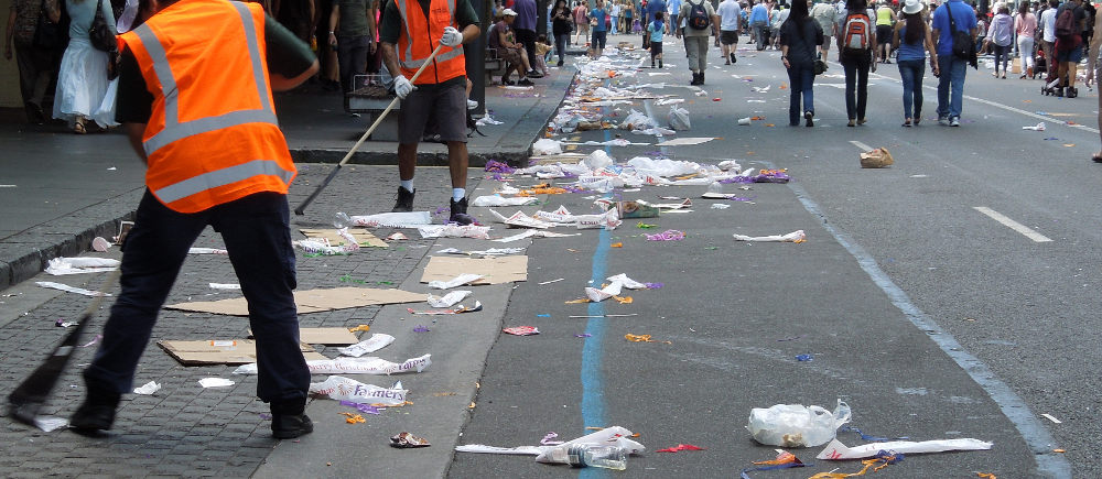 Rubbish after the parade