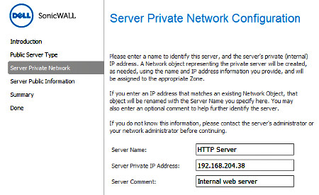 Private Network Details