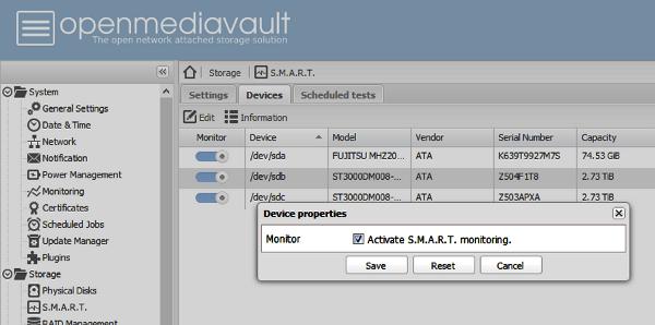 Hard disk SMART monitoring and alerts in OMV | Zoyinc