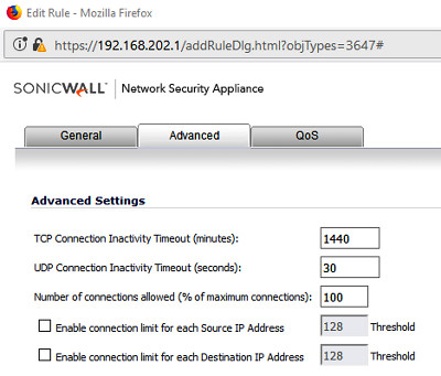 Connection timeout to DMZ for SonicWall | Zoyinc