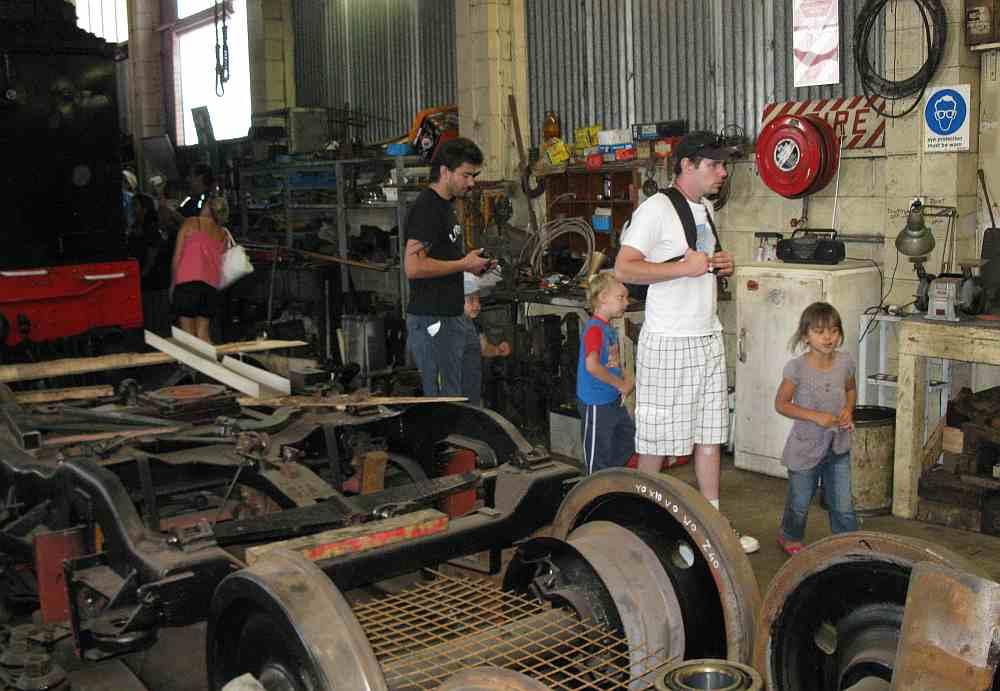 Visiting the workshop